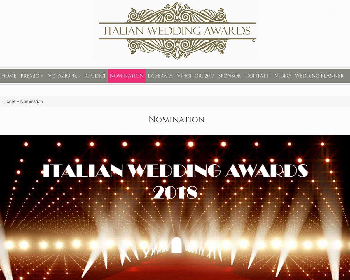 CASTELLO SANTA CATERINA IN SEMIFINALE AGLI ITALIAN WEDDING AWARDS