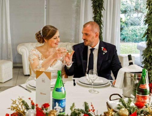 Il matrimonio a tema natalizio di Emanuele e Maria
